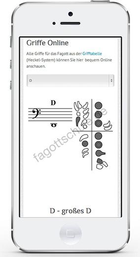 fagottgriffe-online auf iPhone